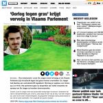 'Oorlog tegen gras' krijgt vervolg in Vlaams Parlement (Brussel) - Het Nieuwsblad - Louis De Jaeger - Commensalist - 27 november 2018 ByeByeGrass