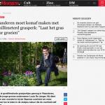 De Morgen - 1 oktober 2018 - Vlaanderen moet komaf maken met gemillimeterd grasperk Laat het gras maar groeien - Louis De Jaeger - Commensalist ByeByeGrass