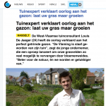 Het Belang van limburg - 24 april 2018 - Louis De Jaeger - Commensalist.png ByeByeGrass
