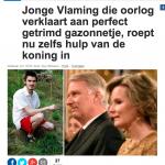 Het Nieuwsblad - 1 mei 2018 - Louis De Jaeger - Commensalist ByeByeGrass