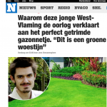 Het nieuwsblad - 24 april 2018 - Louis De Jaeger - Commensalist ByeByeGrass