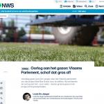 Oorlog aan het gazon: Vlaams Parlement, schaf dat gras af! | VRT NEWS NWS - Louis De Jaeger - Commensalist 27 november 2018 ByeByeGrass