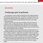 Oorlog tegen gras in parlement - De Standaard - 28 november 2018 - Louis De Jaeger - Commensalist - Tuin architect ontwerp ByeByeGrass