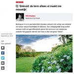 ByeByeGrass - Commensalist - Centaurea - Ecoduct - Bye Bye Grass - Pers - Make Belgium Wild Again - Knack - Dirk Draulans