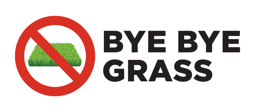 Bye-Bye-Grass-Logo-Make Europe Wild Again - No more perfect Lawns - pelouse - ByeByeGrass