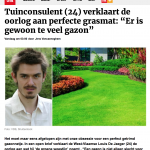 Gazet van Antwerpen - 23 april 2018 - Louis De Jaeger - Commensalist.png ByeByeGrass