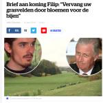HLN Het Laatste Nieuws - 30 april 2018 - Louis De Jaeger - Commensalist ByeByeGrass