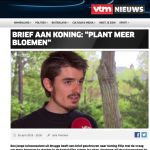 VTM nieuws - 30 april 2018 - Louis De Jaeger - Commensalist ByeByeGrass