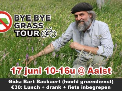 ByeByeGrass tour - Aalst - Bart Backaer - Groendienst - Charter - Bye Bye Grass - Commensalist - Ecoduct - Centaurea